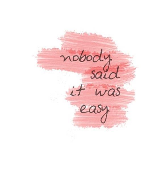 nobodysaiditwaseasy